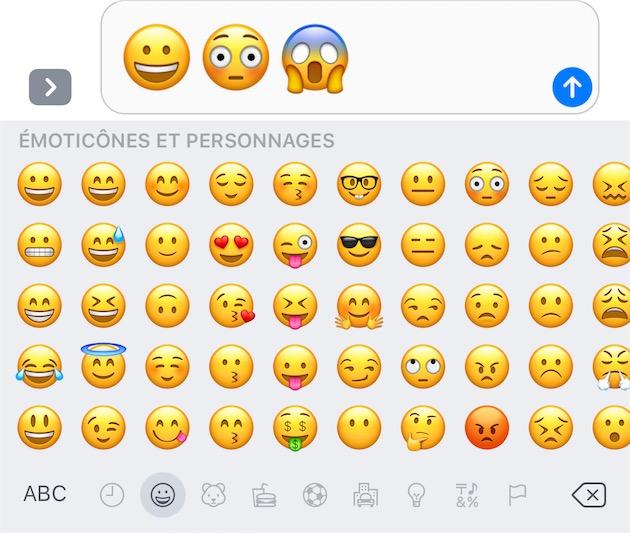 Les nouveaux emojis d'iOS10