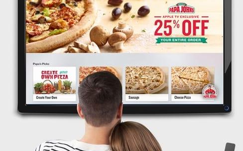 Papa John : enfin une app pour commander une pizza depuis l'Apple TV