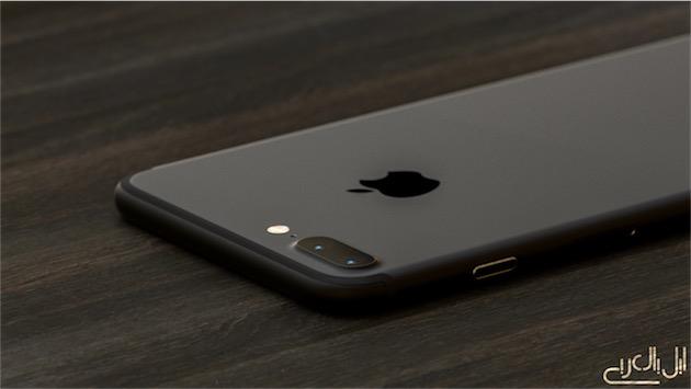 Concept du rendu de l'iPhone7 noir mat qui est censé être proposé cette année.