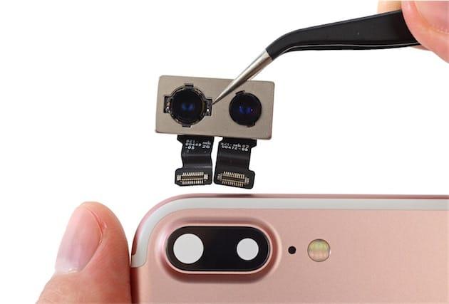 Les deux appareils photos au dos de l'iPhone7Plus.