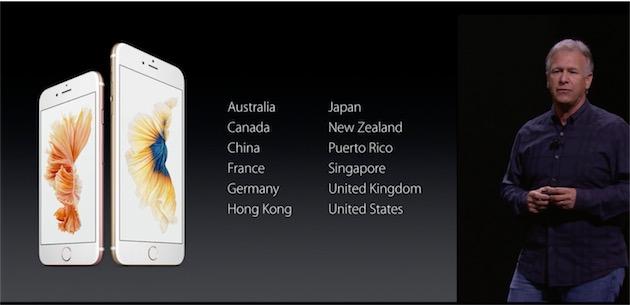 En 2015, l'iPhone a été lancé initalement dans 12 pays