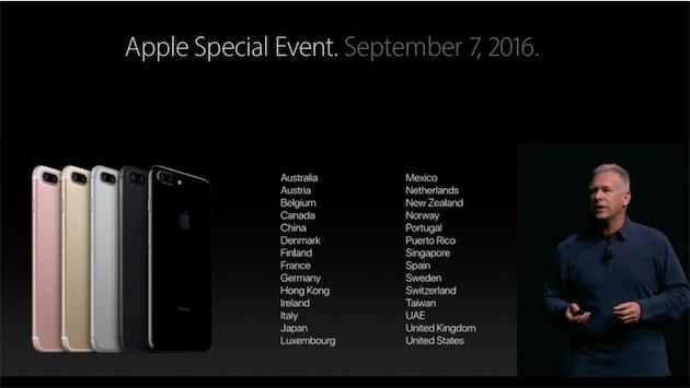 Cette année, l'iPhone 7 est en vente dans 28 pays dès le premier jour !