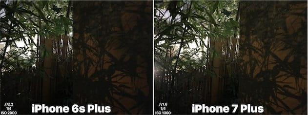 iPhone6sPlus contre iPhone7Plus. Cliquer pour agrandir