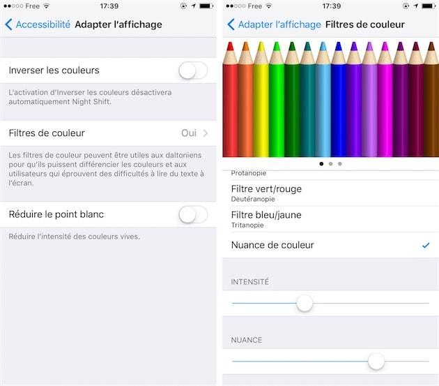 Astuce iOS 10 : personnaliser la colorimétrie de l'écran ...