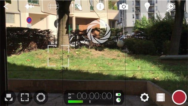 FiLMiC Pro en action, ici avec le téléobjectif de l'iPhone7Plus. Cliquer pour agrandir