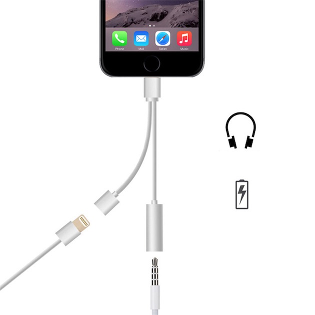 iphone 7 un adaptateur pour couter sa musique et recharger en m me temps igeneration. Black Bedroom Furniture Sets. Home Design Ideas
