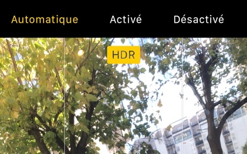 iPhone 8 : comment réactiver le mode HDR manuel ?