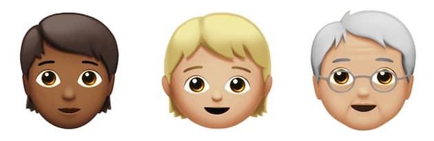 Quelques emojis neutres, ni masculin, ni féminin, ou plutôt potentiellement les deux à la fois. Cliquer pour agrandir
