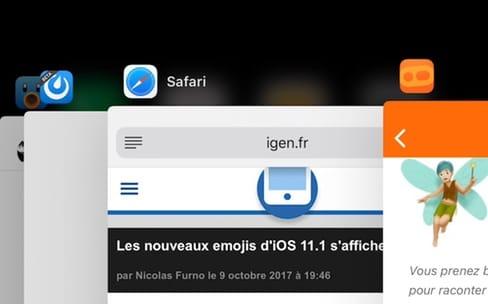 iOS 11.1 bêta 2 restaure le multitâche avec 3DTouch