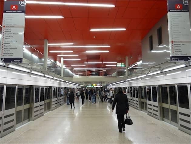 Station Jean Jaurès, sur la ligne A du métro à Toulouse. (Photo Ingolf (CC BY-SA 2.0)) Cliquer pour agrandir