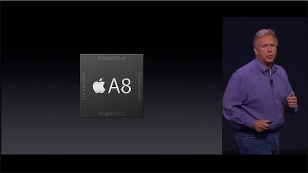 Conçu en 2014 pour les iPhone 6 et 6 Plus, l'Apple A8 a une longue carrière chez Apple, puisqu'il a été exploité ensuite dans l'Apple TV de quatrième génération et bientôt dans le HomePod. Cliquer pour agrandir