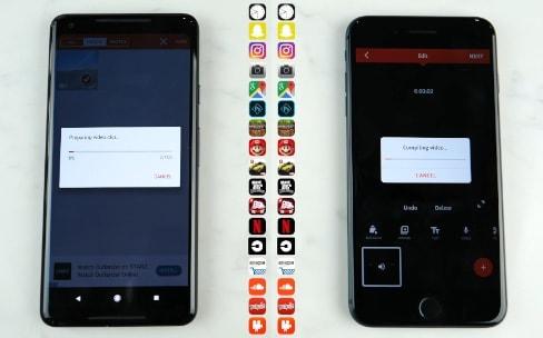 Le Pixel2 est très rapide, mais pas autant que l'iPhone8