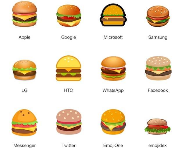 Un intrus se cache dans cette liste ! (Image Emojipedia) Cliquer pour agrandir