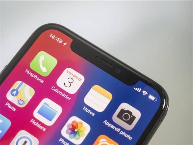L'encoche de l'iPhone X. Cliquer pour agrandir