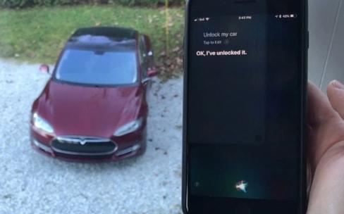 Siri peut désormais déverrouiller une Tesla