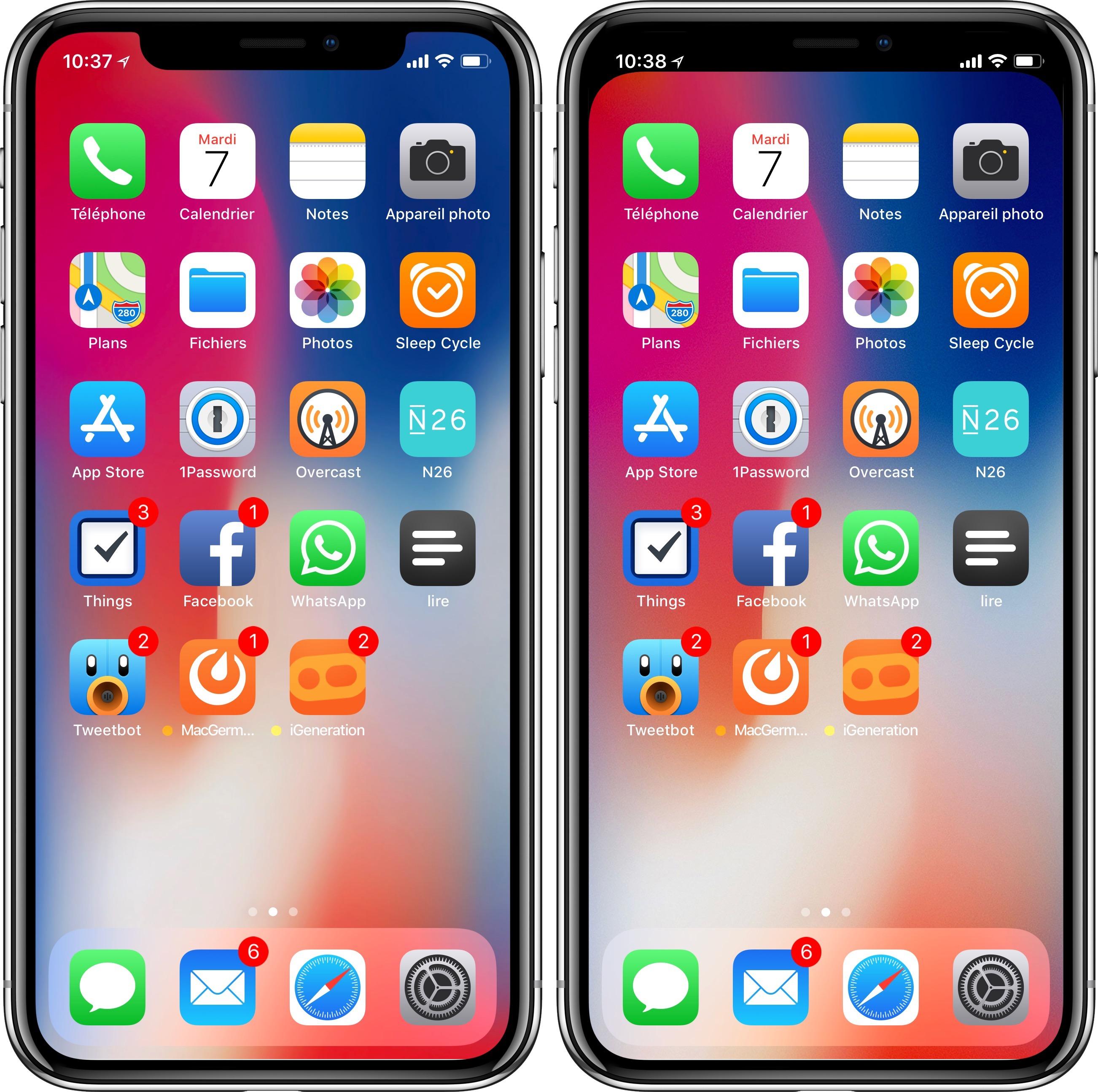 iPhone X : un fond d'écran pour cacher l'encoche et des fonds optimisés pour l'OLED | iGeneration