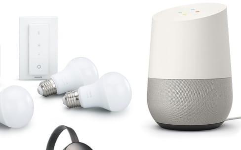 Un pack d'objets connectés (Google Home + Chromecast + Hue) à prix réduit