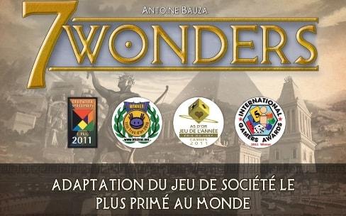 Jeu de société: l'excellent 7 Wonders s'adapte à l'iPad