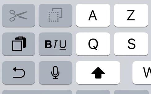Avec iOS 11, le clavier étendu du mode paysage a disparu