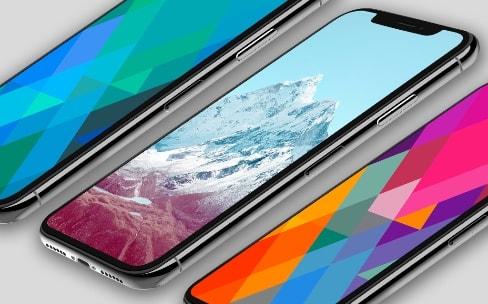 Les fonds d'écran d'iOS7 ont été optimisés pour l'iPhoneX