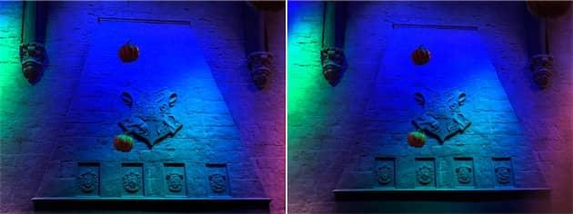 iPhone8Plus à gauche, iPhoneX à droite. Là encore, seule la photo de droite a été prise avec le téléobjectif, le 8Plus a utilisé le grand angle. Cliquer pour agrandir