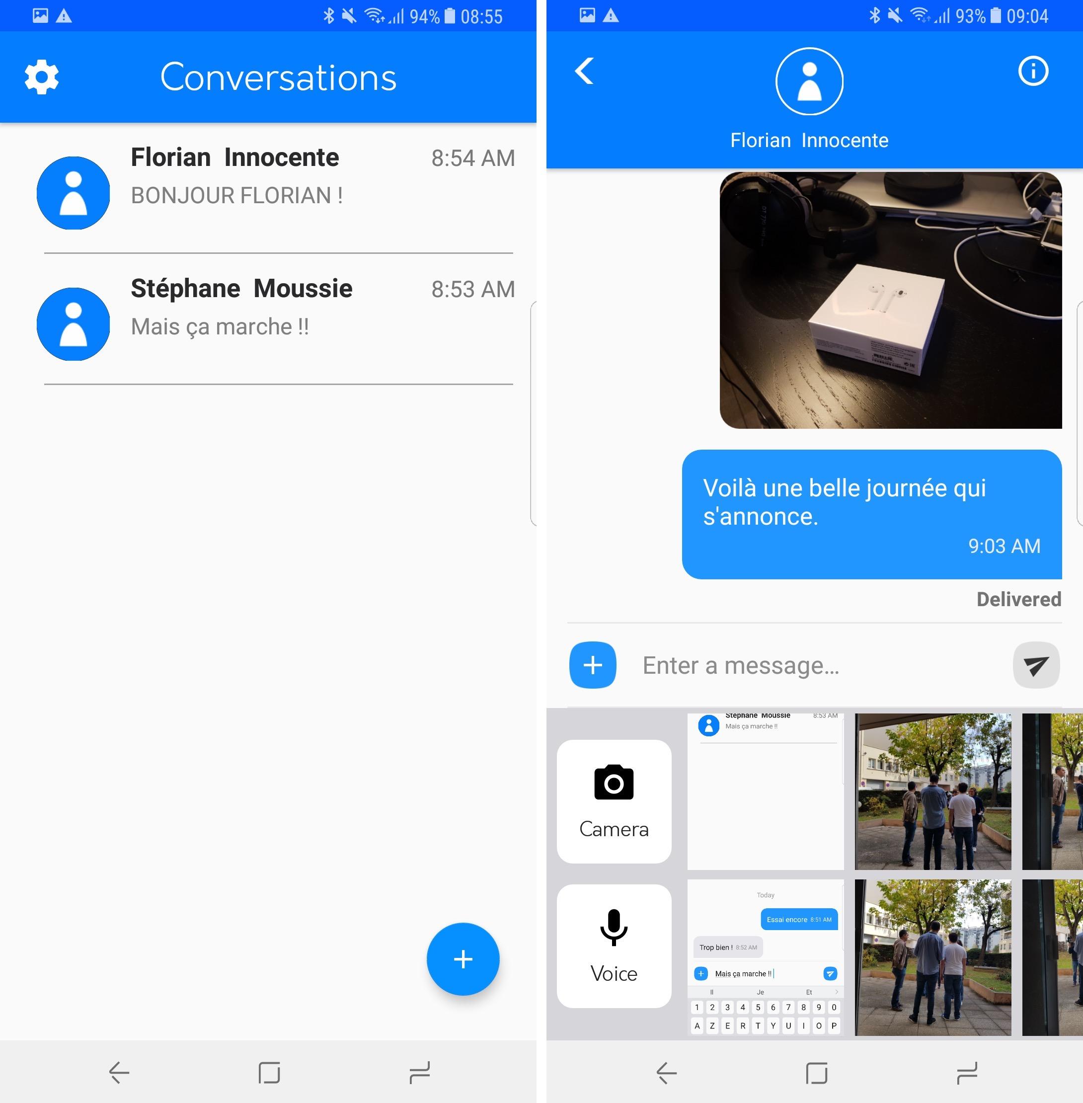 wemessage une autre app pour lire et envoyer des imessage sur android igeneration. Black Bedroom Furniture Sets. Home Design Ideas