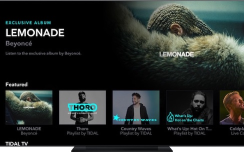 Tidal arrive plus vite que Spotify sur l'Apple TV