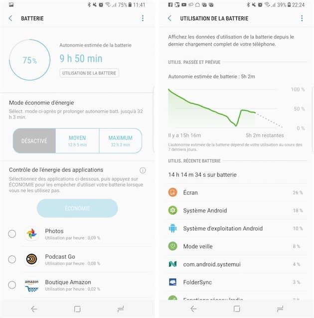 Android donne trop d'informations à l'utilisateur concernant la batterie, iOS pas assez: il y a sûrement un bon compromis à trouver. Cliquer pour agrandir