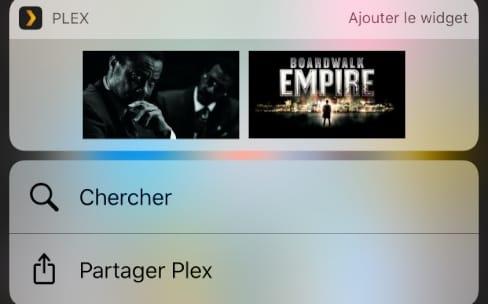Plex affiche les éléments récents dans un widget