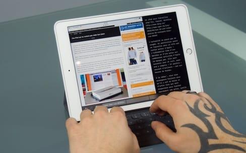 J'ai réussi à travailler avec mon iPad