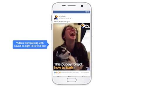 Facebook active le son des vidéos affichées sur votre mur