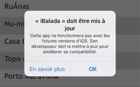 iOS10.3 bêta 3 aménage une place pour les vieilles apps