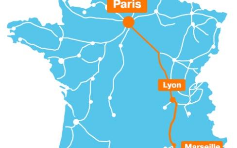 Orange couvre en 4G la ligne TGV Paris-Marseille