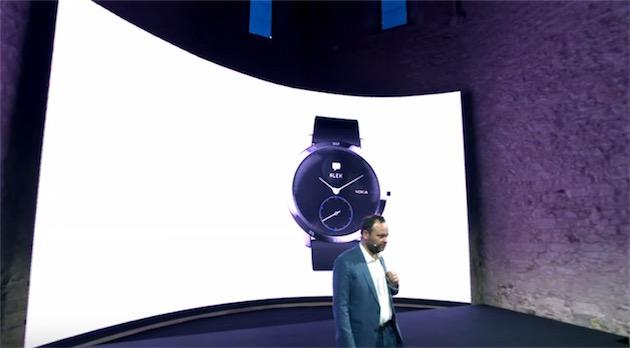 La Steel HR, que nous avons testé récemment2, avec le logo Nokia.