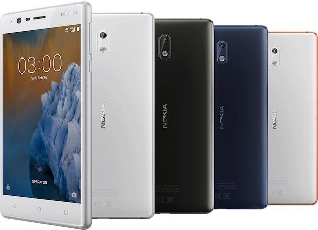 Nokia 3. Image Nokia.