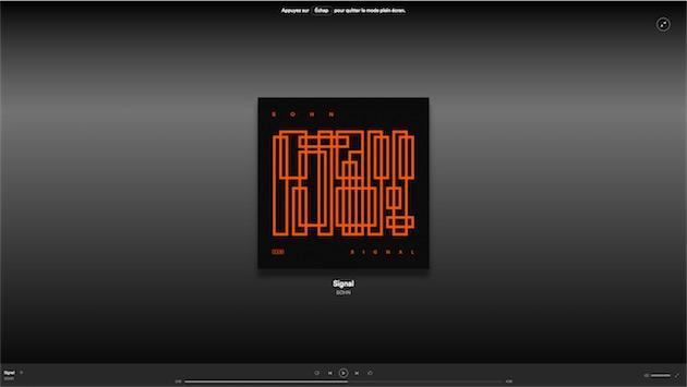 Un nouvel affichage plein cran d pouill dans spotify sur for Plein ecran photo mac