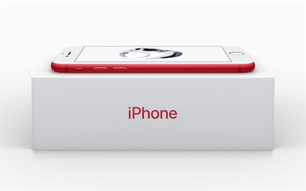 les iphone 7 et 7 plus rouge disponibles le 24 mars igeneration. Black Bedroom Furniture Sets. Home Design Ideas