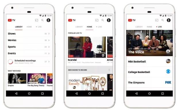 google allume la t l vision de youtube tv. Black Bedroom Furniture Sets. Home Design Ideas