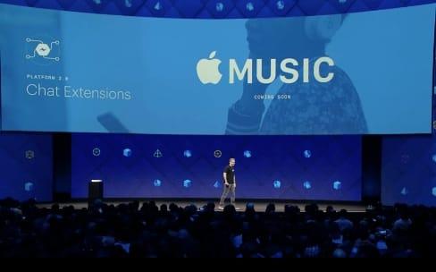 Apple Music va partager la musique sur Facebook Messenger
