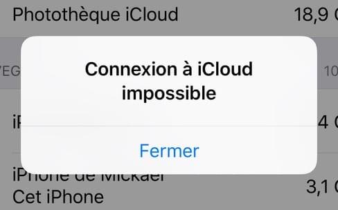 Message erroné de l'arrêt des forfaits iCloud: Apple s'excuse