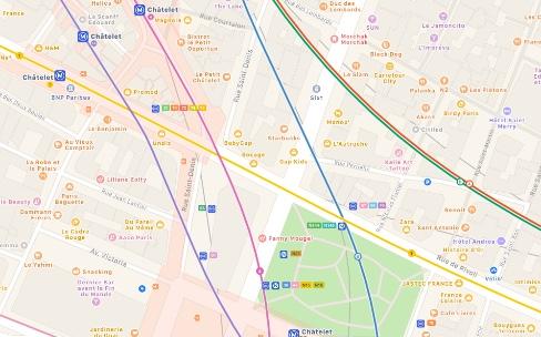 Plans : les itinéraires en transports en commun sont disponibles à Paris