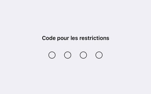iOS : comment retrouver le code pour les restrictions d'un iPhone ou iPad