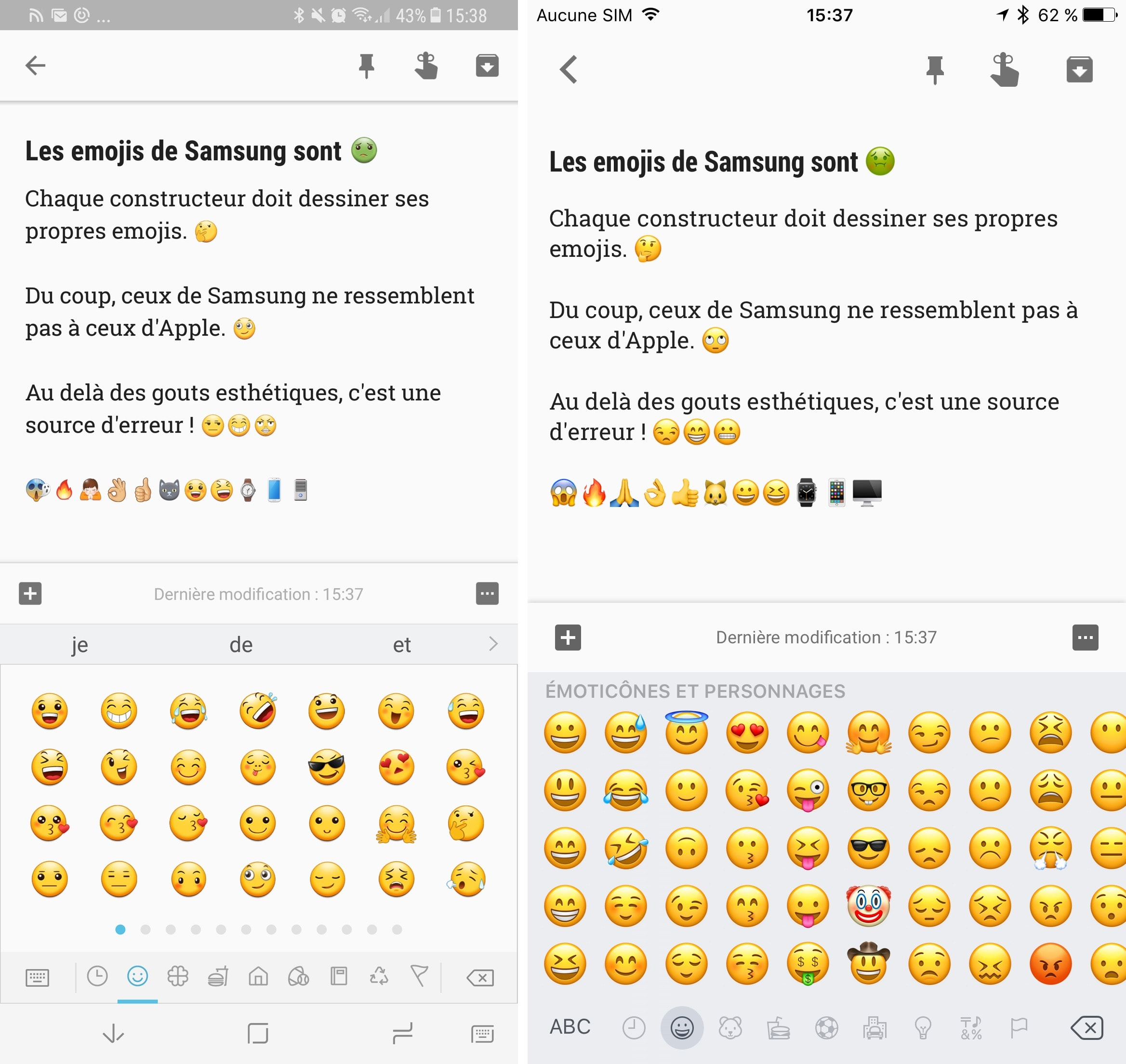Traduction Smiley Iphone Samsung