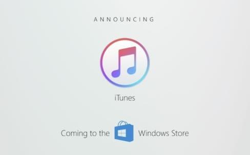 iTunes va être distribué sur le Windows Store