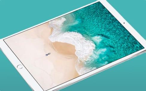 L'iPad Pro de 10,5 pouces et ses bordures plus fines en représentation (3D)