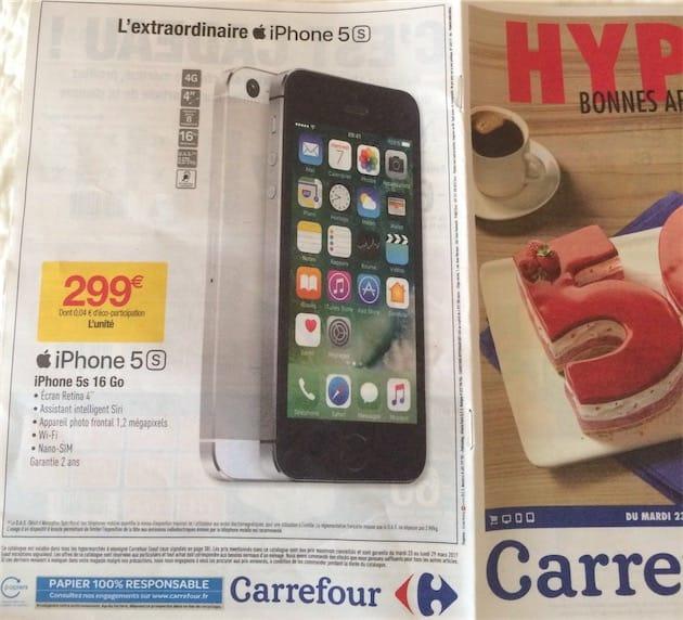 L'iPhone 5s à 299 € chez Sosh et Carrefour | iGeneration