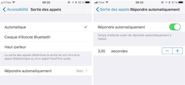 comment decrocher automatiquement iphone