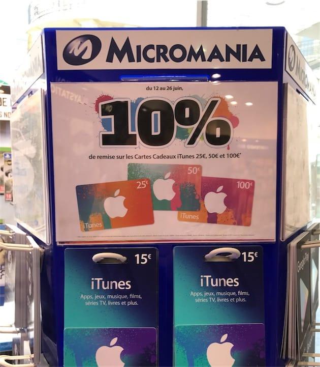 Remise De 10 Sur Les Cartes Itunes Dans Les Micromania