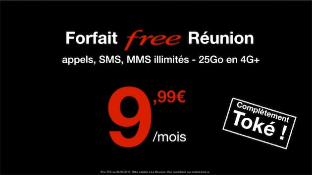 Free Mobile à La Réunion : un forfait à 9,99 € pour les