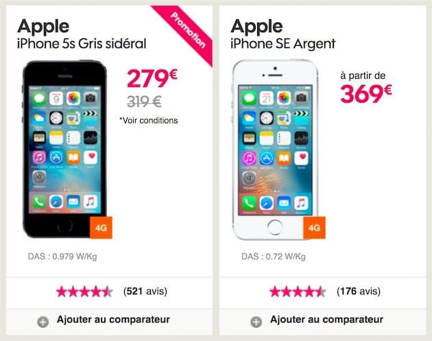 7b5fb03d082f74 Sosh : iPhone 5s à 279 €, iPhone SE à 369 € et iPhone 6s Plus à 649 ...